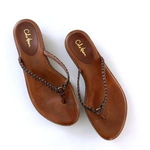 Cole Hann Nike Brown Leather Sandals